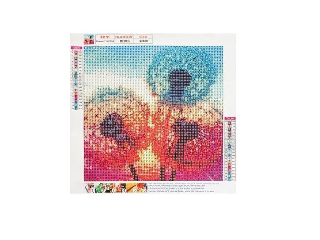 Ψηφιδωτό Μωσαϊκό με ψηφίδες τύπου διαμάντια και σχέδιο Πικραλίδες, 30x30 cm, Mosaic Art Kit