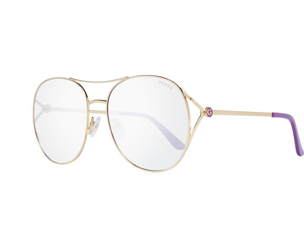 Guess Γυναικεία Γυαλιά Ηλίου μe Χρυσό Μεταλλικό σκελετό και Ροζ Ντεγκραντέ Φακό, GU7686 32Z 59