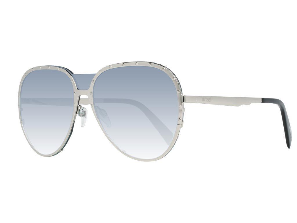 Just Cavalli Unisex Γυαλιά Ηλίου με Ασημί σκελετό Γκρι Φακό 100% προστασία UVA UVB, JC869S 16P 136