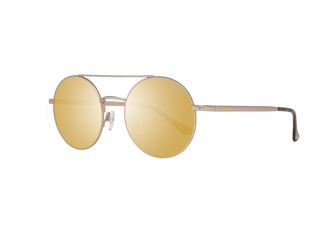 Pepe Jeans Γυναικεία Γυαλιά Ηλίου με Χρυσό Μεταλλικό σκελετό και Χρυσό Φακό, PJ5124 C02 52