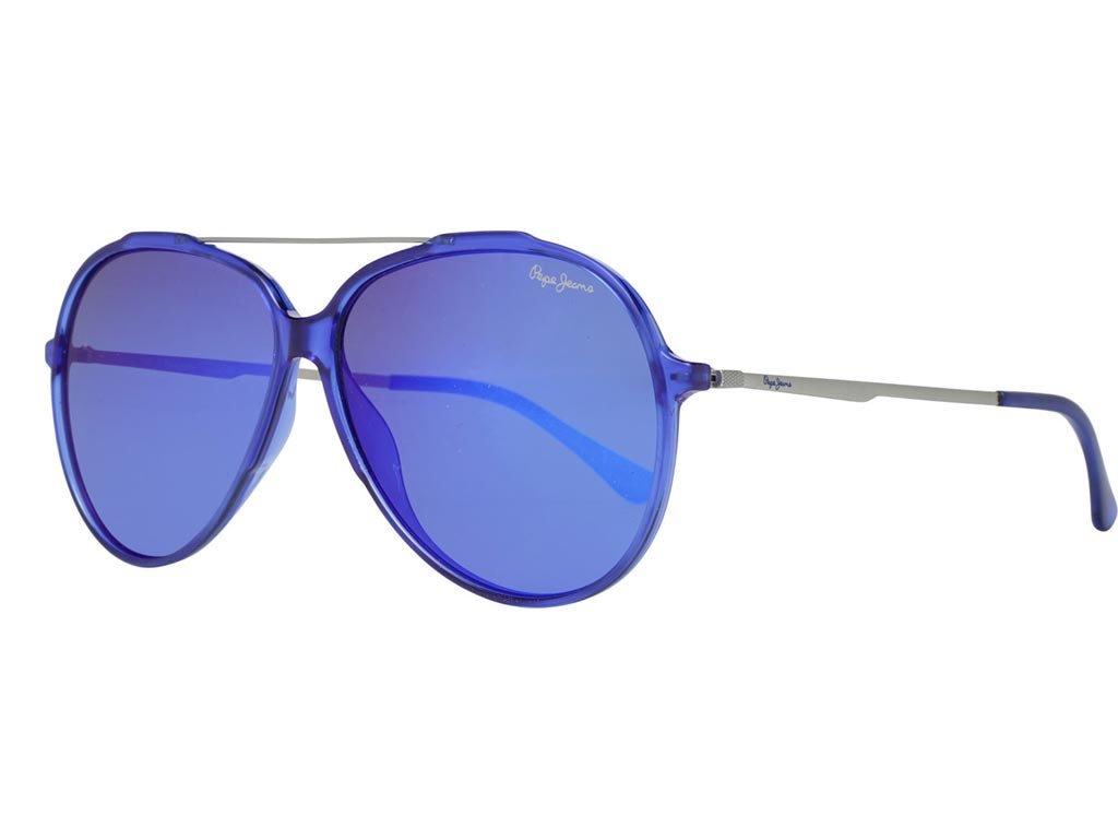Pepe Jeans Unisex Γυαλιά Ηλίου με Mπλε Μεταλλικό σκελετό και Μπλε Φακό, PJ7324 C4 60