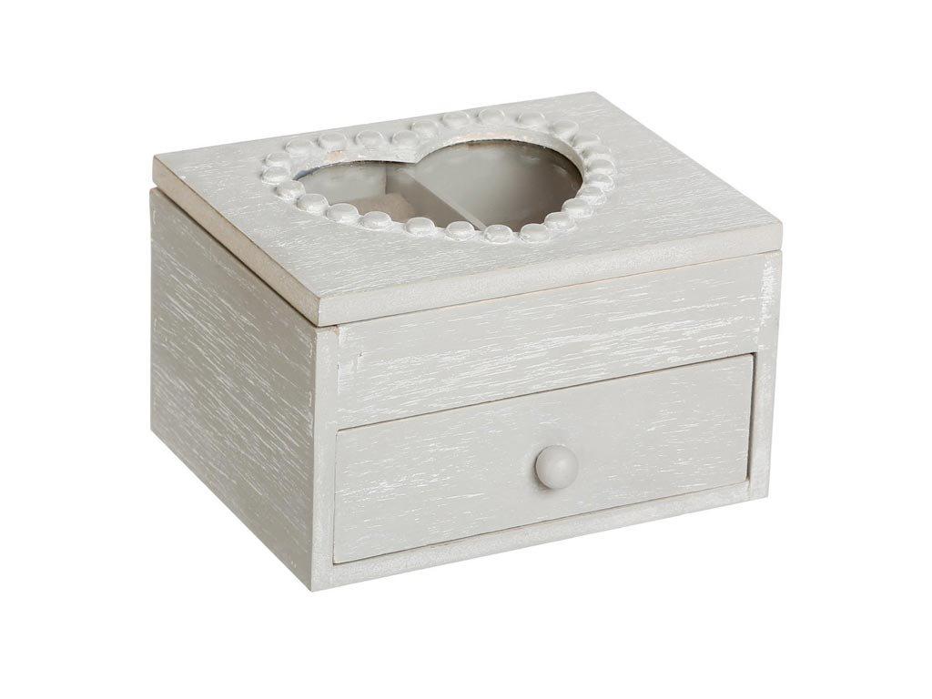 Ξύλινη Κοσμηματοθήκη Μπιζουτιέρα με συρτάρι, 14x12x9 cm, Jewelry Box