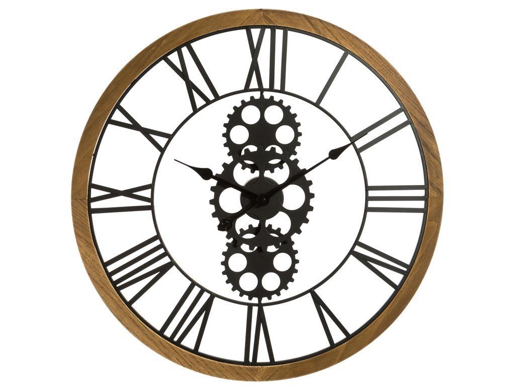 Αναλογικό Μεταλλικό Ρολόι Τοίχου διαμέτρου 70cm σε μαύρο χρώμα, Wall clock