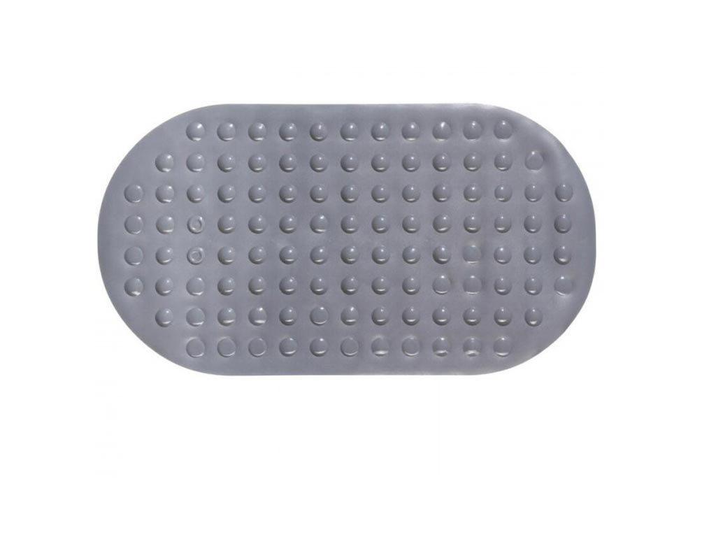 Aria Trade Αντιολισθητικό Μπάνιου με Βεντούζες Γκρι 68x37cm AT000174