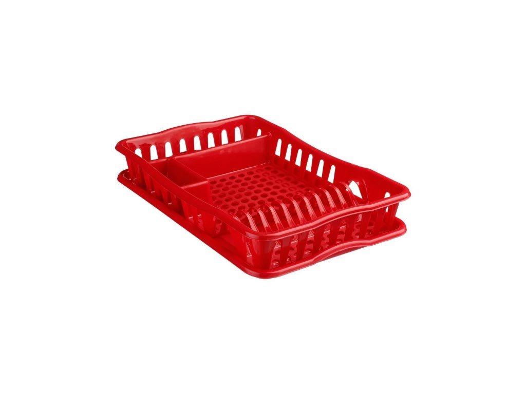 Πλαστική Πιατοθήκη Στεγνωτήριο πιάτων ποτηριών μαχαιροπίρουνων με δίσκο στράγγισης, 32.5x42x9 cm