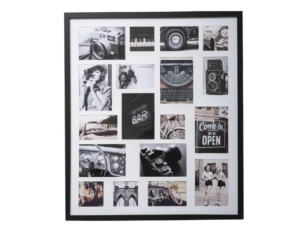 Ξύλινη Πολυκορνίζα Κορνίζα Τοίχου για 18 φωτογραφίες, 64x2.5x75 cm, Photo frame