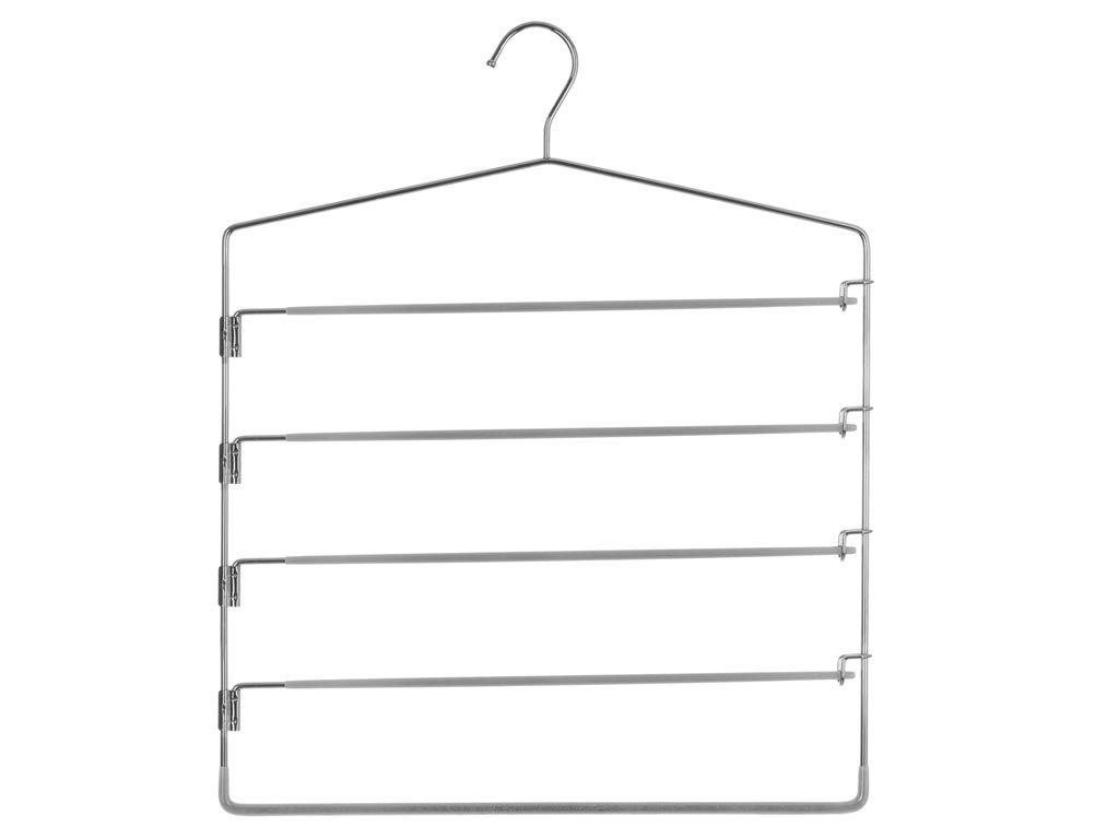 Μεταλλική Κρεμάστρα Ντουλάπας για παντελόνια 5 θέσεων, 37x44.5 cm