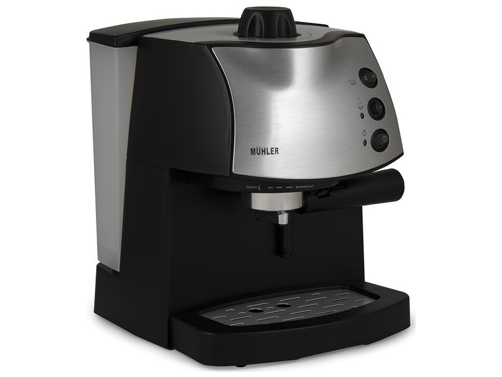 Muhler Καφετιέρα Espresso 850W για Espresso και Cappuccino σε μαύρο χρώμα, MCM-1587
