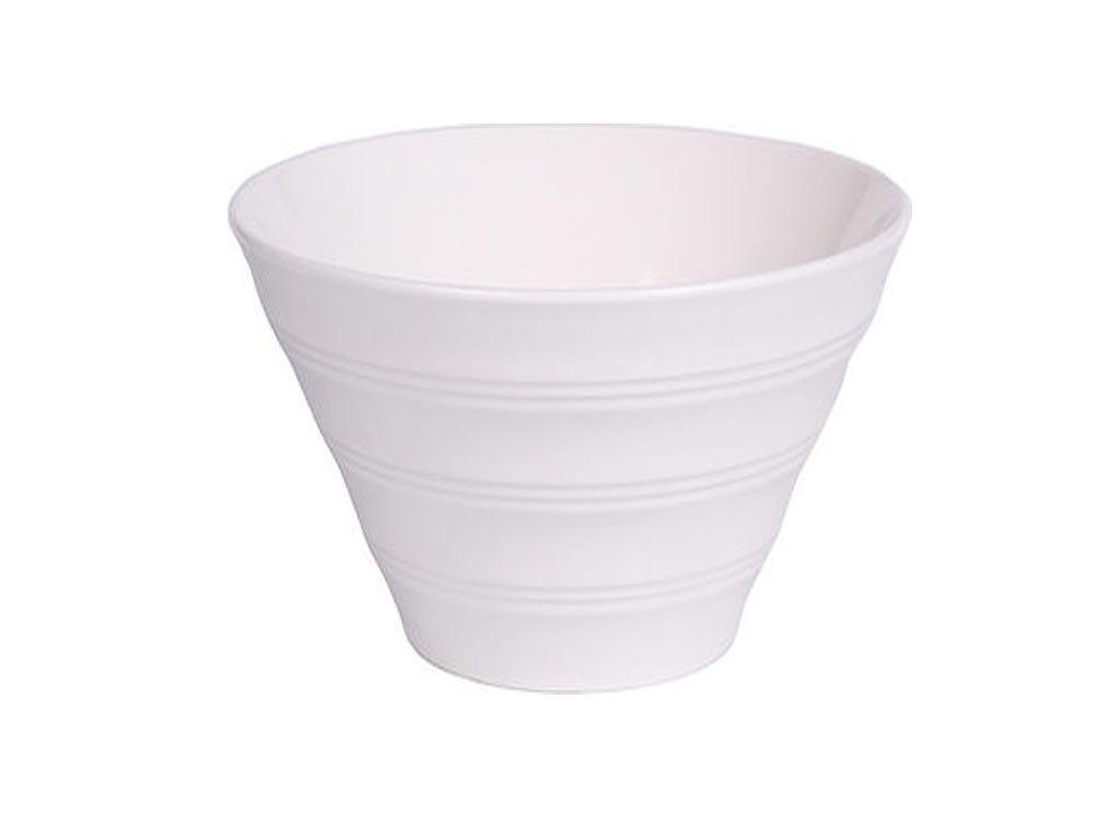 Luigi Ferrero Κaya Σαλατιέρα από Πορσελάνη διαμέτρου 21.5 cm σε λευκό χρώμα, Salad Bowl