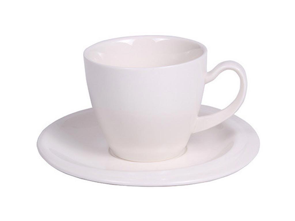 Luigi Ferrero Φλυτζάνι Καφέ με Πιατάκι από πορσελάνη χωρητικότητας 250 ml σε Λευκό χρώμα, Anika