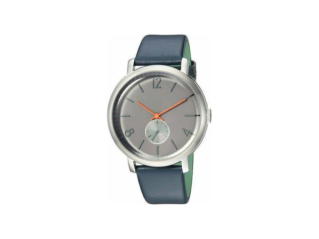 Ted Baker Ανδρικό Ρολόι χειρός, 43mm, με δερμάτινο λουράκι και γκρι Καντράν, TE15063004