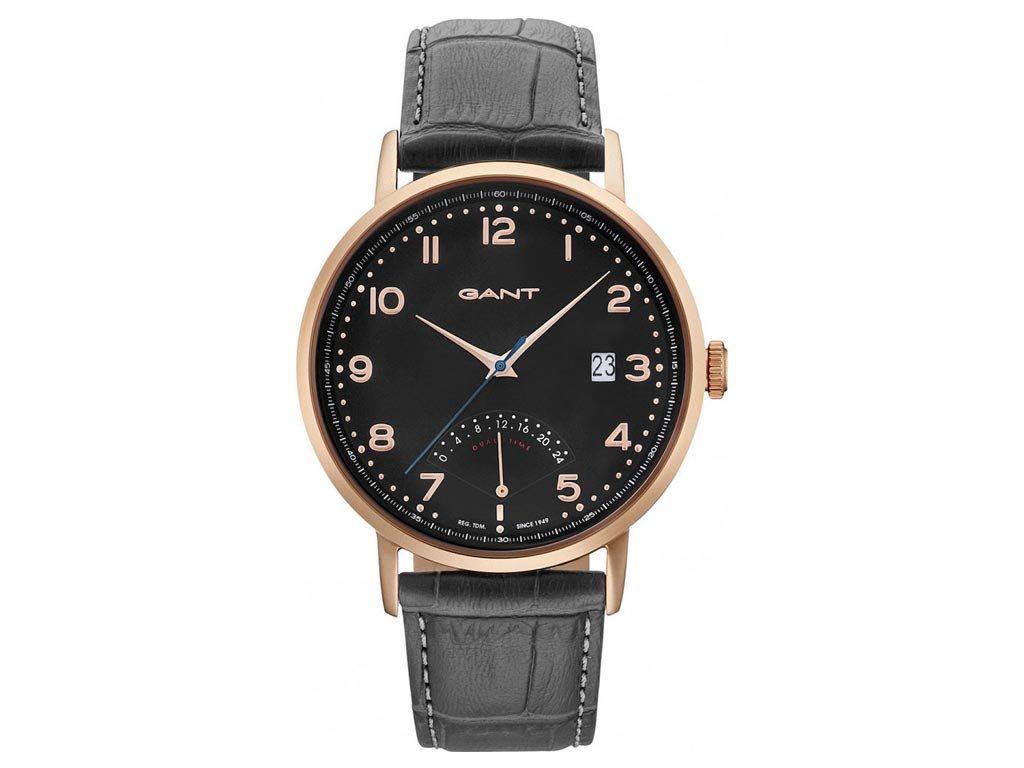 Gant Pennington Ανδρικό Ρολόι χειρός 43mm με δερμάτινο λουράκι σε μαύρο χρώμα, GT022007