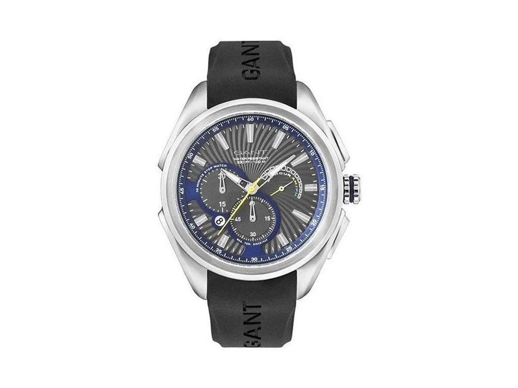 Gant Ανδρικό Ρολόι χειρός με λουράκι καουτσούκ σε μαύρο χρώμα, GWW105815