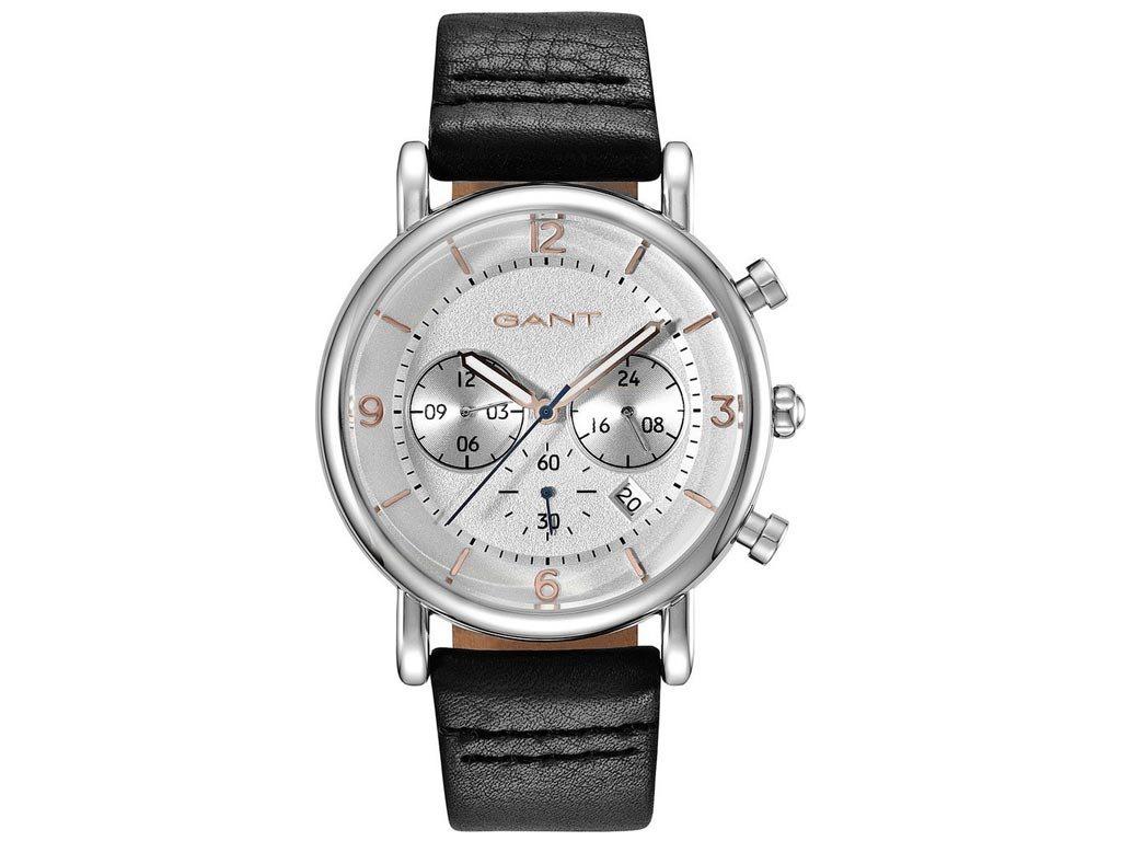 Gant Springfield Ανδρικό Ρολόι χειρός 44mm με δερμάτινο λουράκι σε μαύρο χρώμα, GT007001