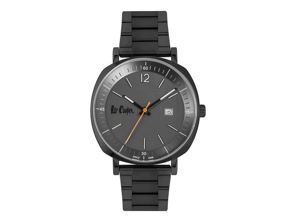 Lee Cooper Ανδρικό Ρολόι χειρός 42mm με μπρασελέ και μαύρο καντράν,  LC06840.060