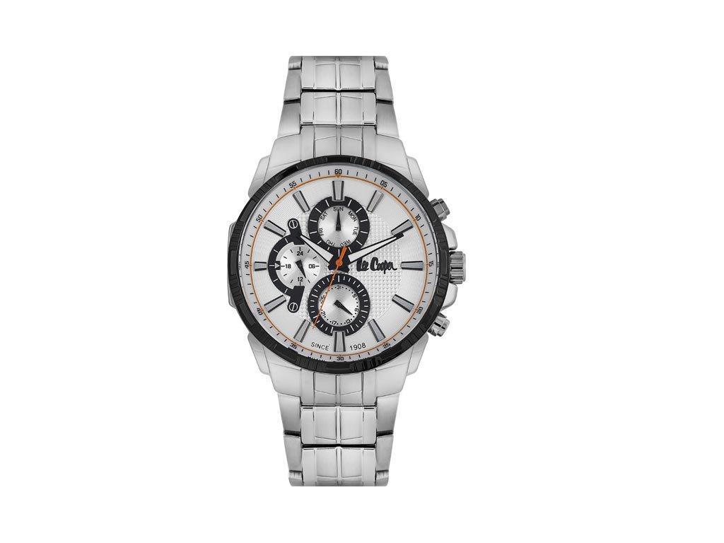 Lee Cooper Ανδρικό Ρολόι χειρός 47mm με μπρασελέ και ασημί καντράν, LC06511.630