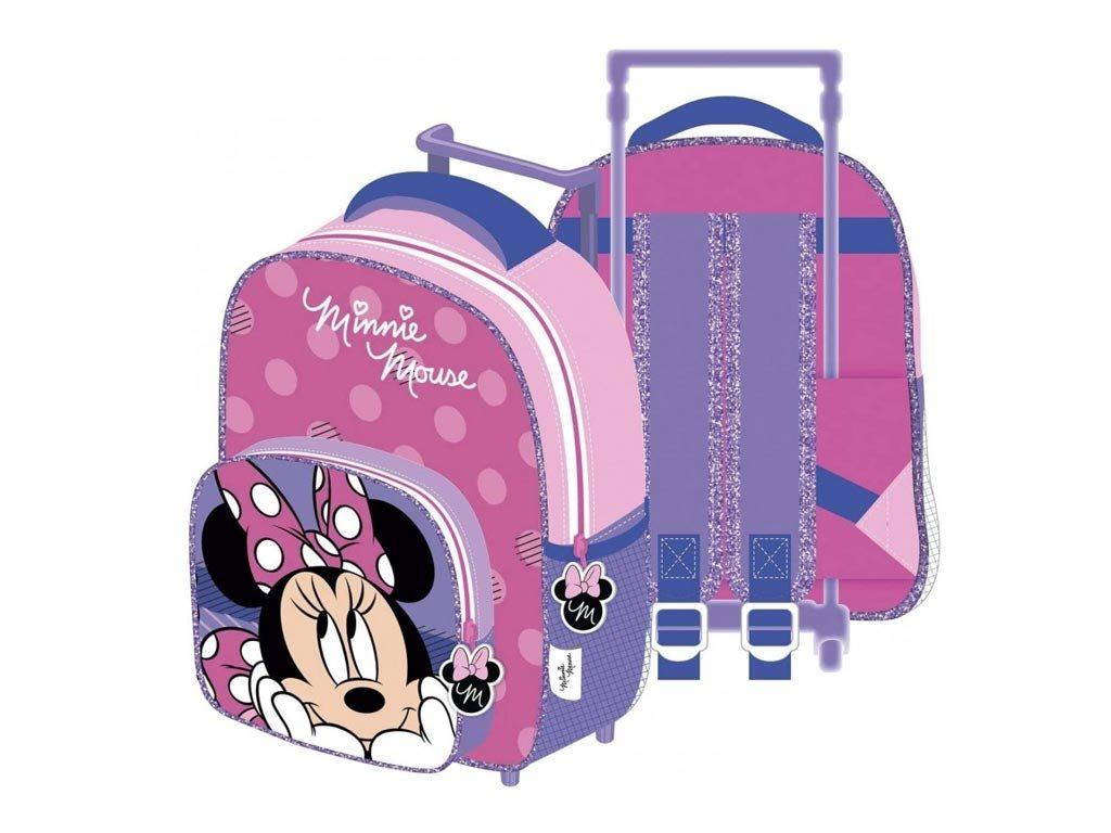 Disney Σχολική Τσάντα Τρόλεϊ Σακίδιο Πλάτης Νηπίου με θέμα Minnie, 24x36x12 cm, Trolley bag