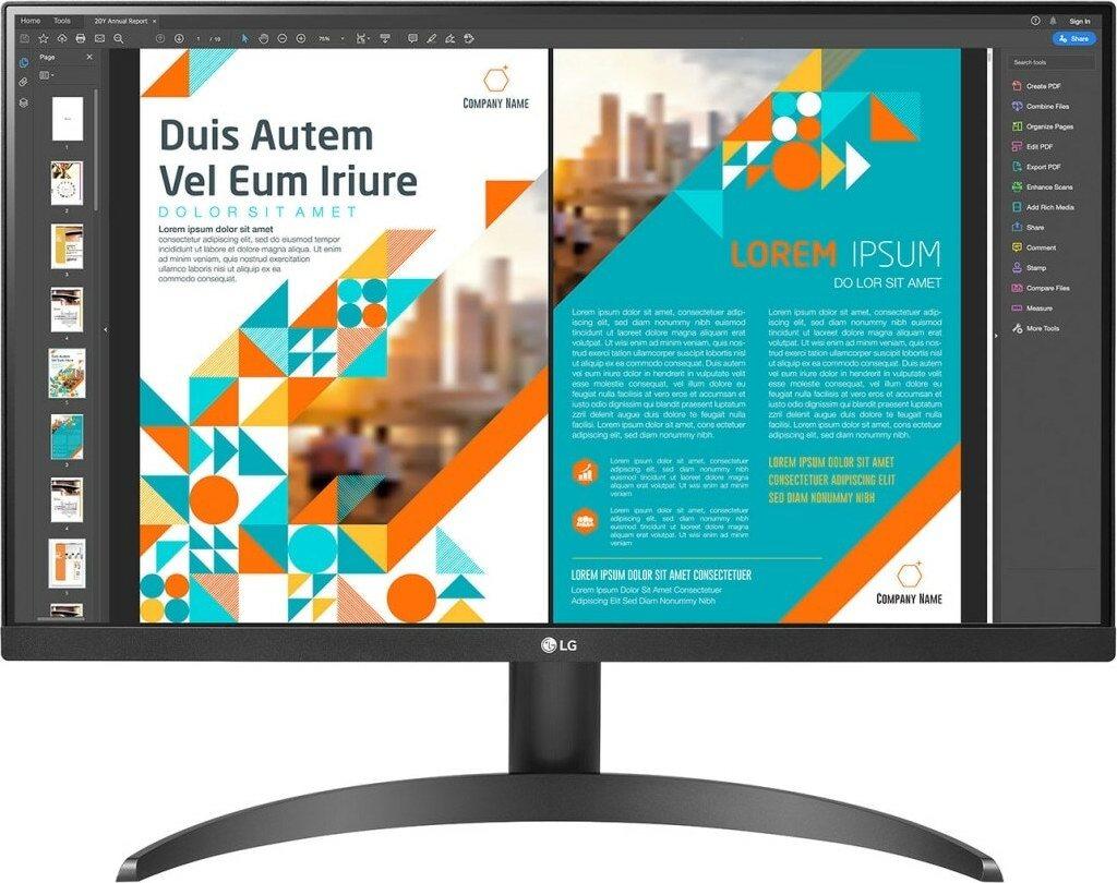 "LG Monitor 23.8"" QHD 24QP500-B"
