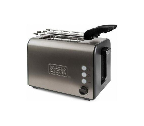 Black+Decker BXTOA900E Φρυγανιέρα 2 Θέσεων 900W Inox