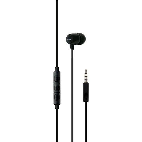 Hands Free Mono inos 3.5mm Flatron II με Μικρά Ακουστικά Μαύρο