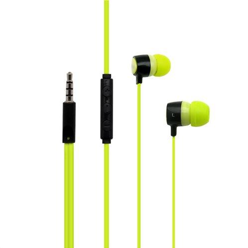 Hands Free Stereo inos 3.5mm Flatron II με Μικρά Ακουστικά Λαχανί-Μαύρο