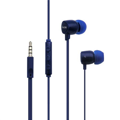 Hands Free Stereo inos 3.5mm Flatron II με Μικρά Ακουστικά Μπλε