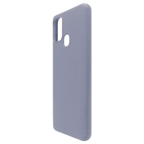 Θήκη Liquid Silicon inos Samsung A217F Galaxy A21s L-Cover Γκρι-Μπλε