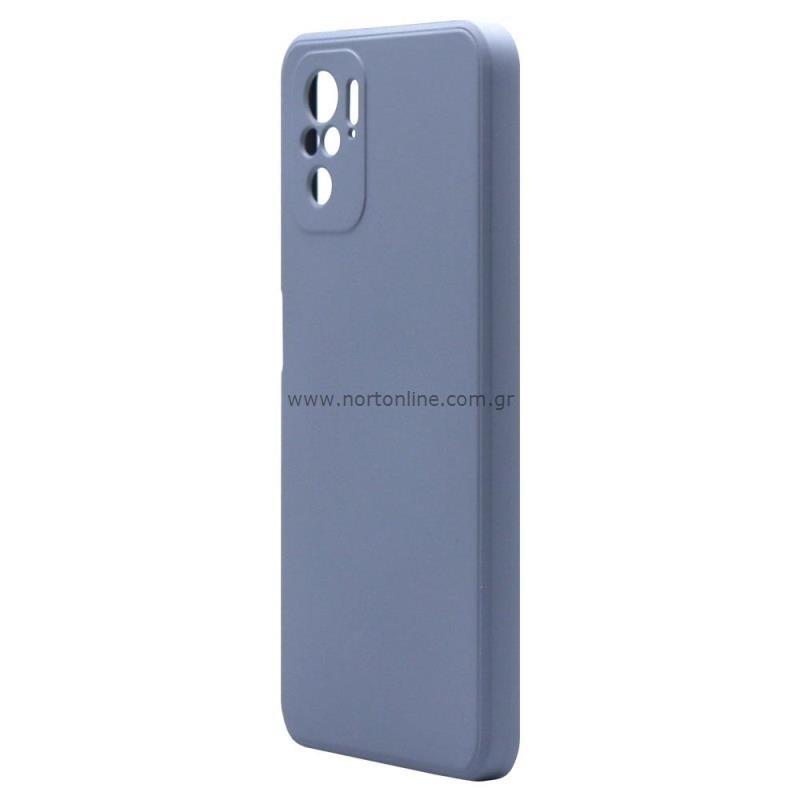 Θήκη Liquid Silicon inos Xiaomi Redmi Note 10 L-Cover Γκρι-Μπλε