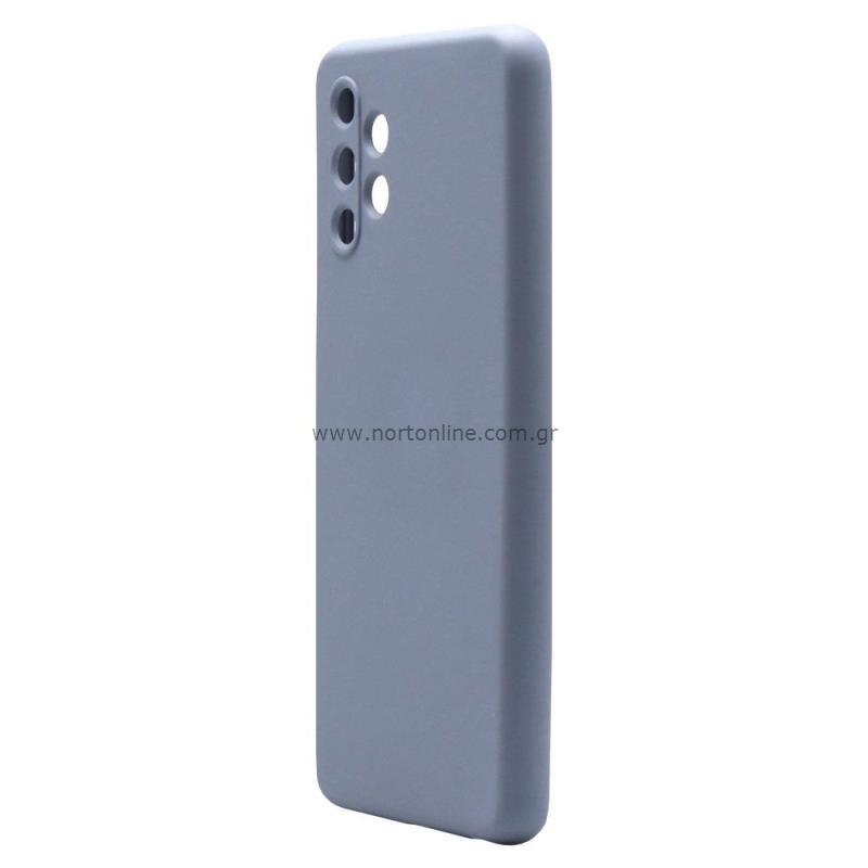 Θήκη Liquid Silicon inos Samsung A325F Galaxy A32 4G L-Cover Γκρι-Μπλε