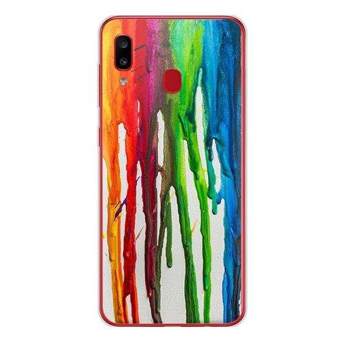 Θήκη TPU inos Samsung A202F Galaxy A20e Art Theme Vertical Watercolor