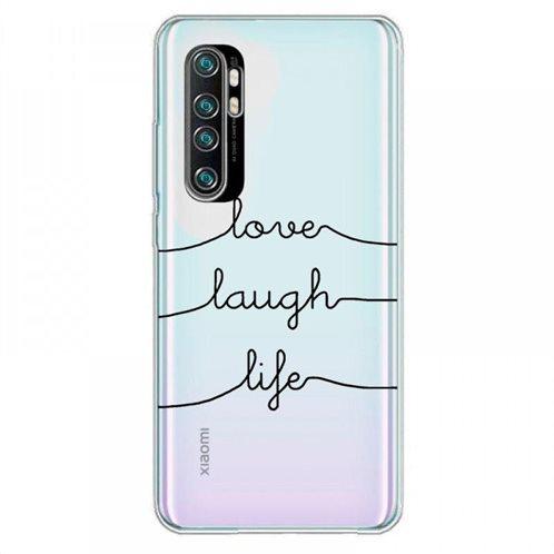Θήκη TPU inos Xiaomi Mi Note 10 Lite Art Theme Love-Laugh-Life