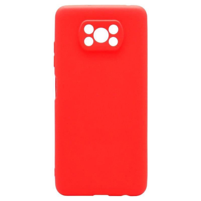 Θήκη Soft TPU inos Xiaomi Poco X3/ Poco X3 Pro S-Cover Κόκκινο