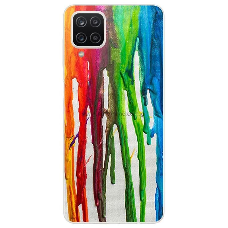Θήκη TPU inos Samsung A125F Galaxy A12 Art Theme Vertical Watercolor