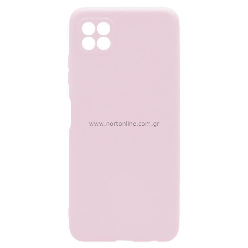 Θήκη Soft TPU inos Samsung A226B Galaxy A22 5G S-Cover Dusty Ροζ