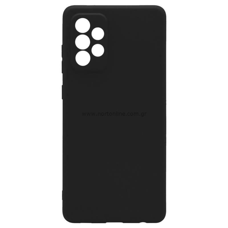 Θήκη Soft TPU inos Samsung A725F Galaxy A72 4G/ A726B Galaxy A72 5G S-Cover Μαύρο
