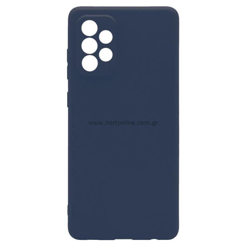 Θήκη Soft TPU inos Samsung A725F Galaxy A72 4G/ A726B Galaxy A72 5G S-Cover Μπλε