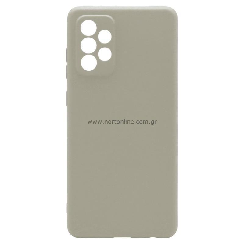 Θήκη Soft TPU inos Samsung A725F Galaxy A72 4G/ A726B Galaxy A72 5G S-Cover Γκρι