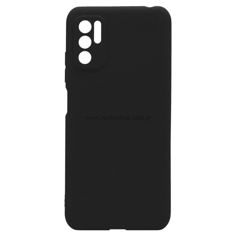 Θήκη Soft TPU inos Xiaomi Redmi Note 10 5G S-Cover Μαύρο