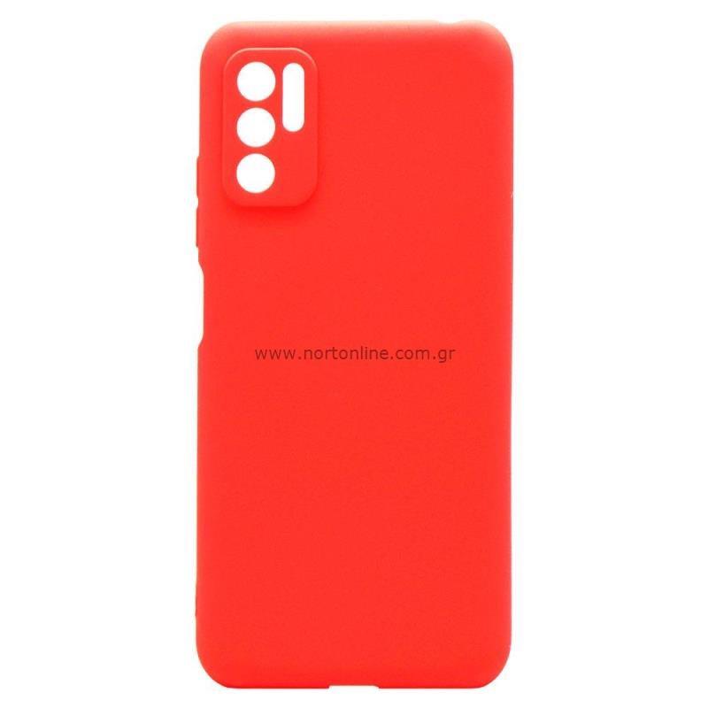 Θήκη Soft TPU inos Xiaomi Redmi Note 10 5G S-Cover Κόκκινο
