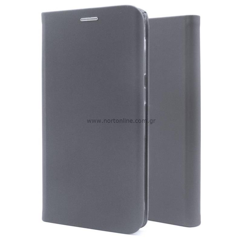 Θήκη Flip Book inos Samsung G991B Galaxy S21 5G Curved S-Folio Γκρι