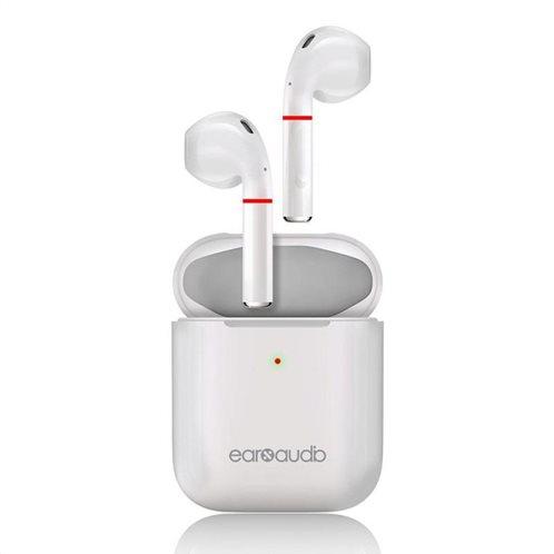 Ασύρματα Ακουστικά Bluetooth Earbuds Microdia earXaudio AP5 X.Wireless Λευκό