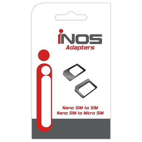 Αντάπτορες inos Nano SIM σε Micro SIM και Nano SIM σε SIM