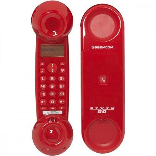 Ασύρματο Τηλέφωνο Sagem SIXTY Go Κόκκινο