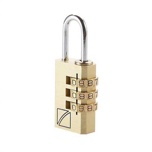 Travel Blue κλειδαριά  με συνδιασμό χρώμα ασημί ή χρυσό