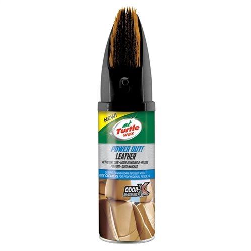 Turtle Wax Καθαριστικός αφρός & μαλακτικό δέρματος Power Out with brush  400ml