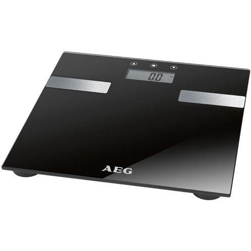 AEG ηλεκτρονική ζυγαριά μπάνιου με λιπομέτρηση Γυάλινη PW 5644 BLACK