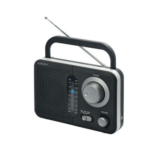 Αναλογικό ραδιόφωνο Audioline TR-412 μπαταρίας - ρεύματος μαύρο-ασημί