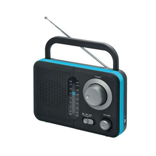 Αναλογικό ραδιόφωνο Audioline TR-412 μπαταρίας - ρεύματος μαύρο-μπλε