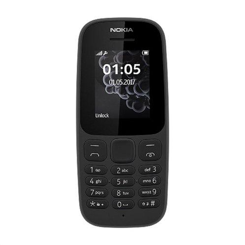 Nokia 105 (Dual SIM) (2017) Feature Phone Μαύρο