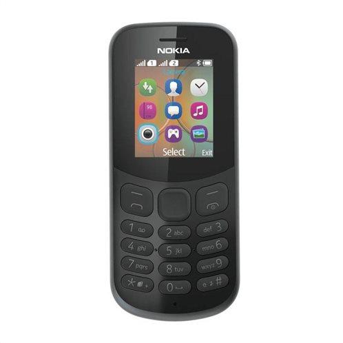 Nokia 130 (2017) (Dual SIM) Feature Phone Μαύρο